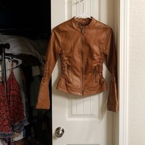 Sexy faux leather jacket